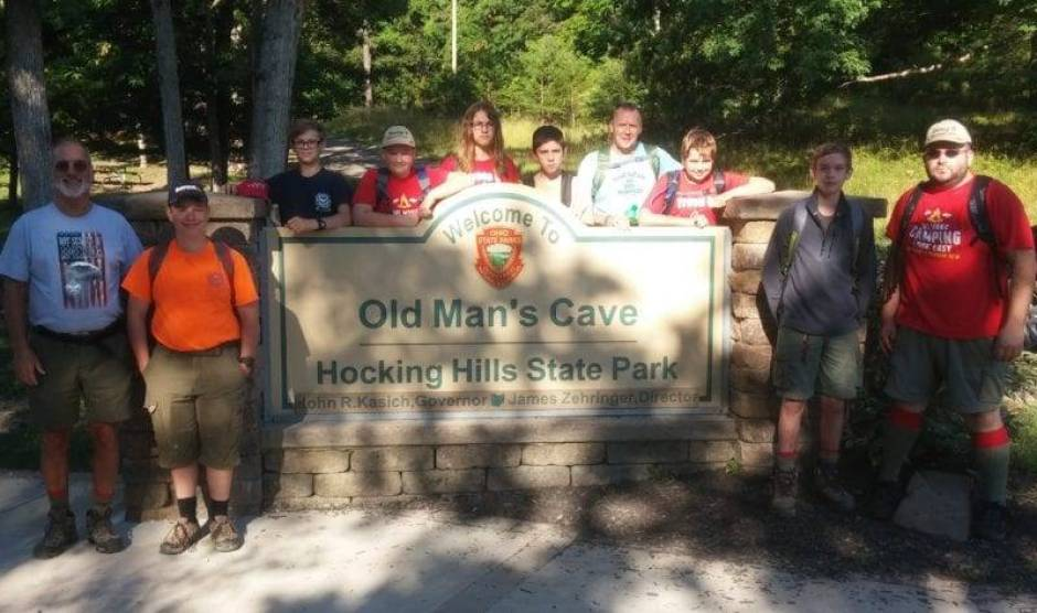 Troop 8 Boy Scouts Hike Hocking Hills State Park Trails WEB