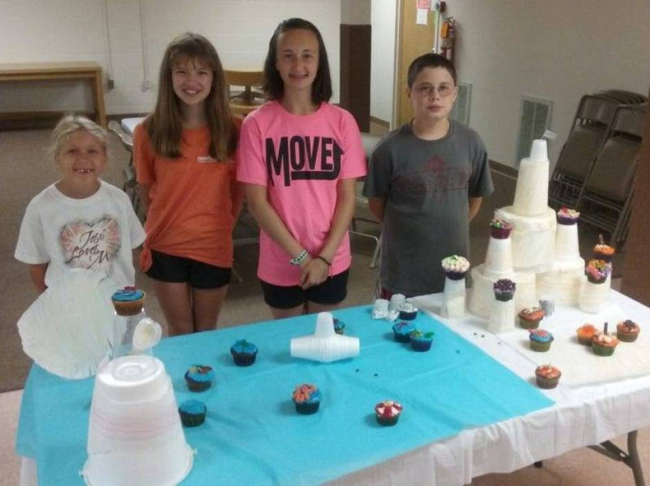 The winning team was Team Ocean, Dani Frame, 8, Karissa Merillat, 12, Nadaly Knox, 12 and Kaden Goebel, 10.