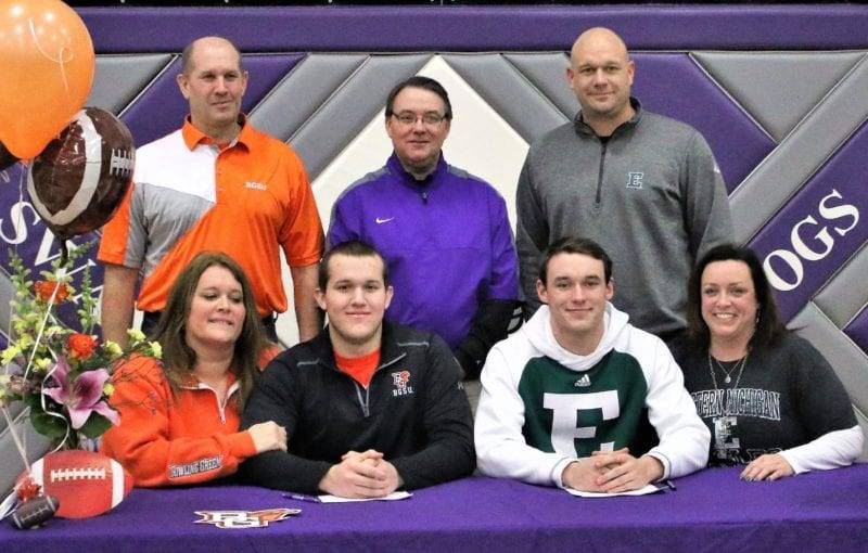 Two Swanton Athletes Sign With D1 Football Schools