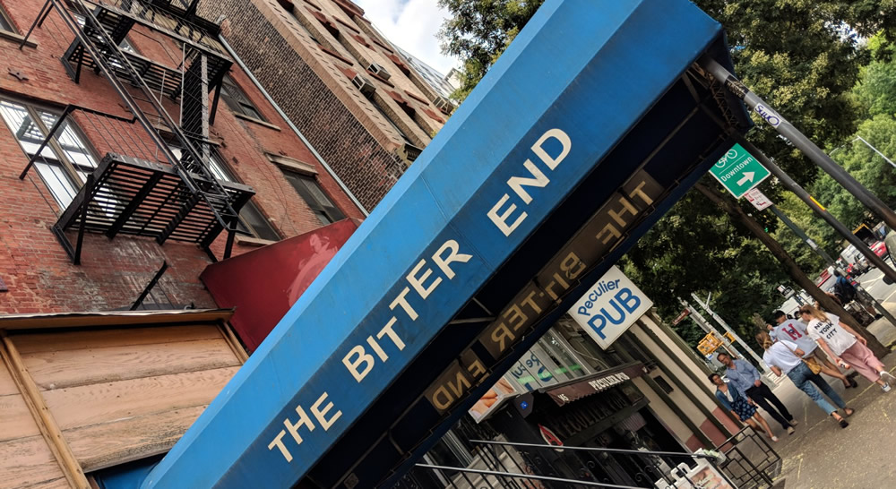 The Bitter End club on Bleecker Street, Greenwich Village