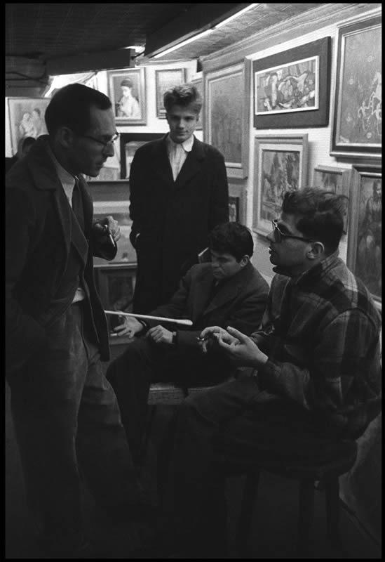 Beat Scene 1957. Allen GIinsberg and Barney Rosset (Burt GlinnMagnum Photos)