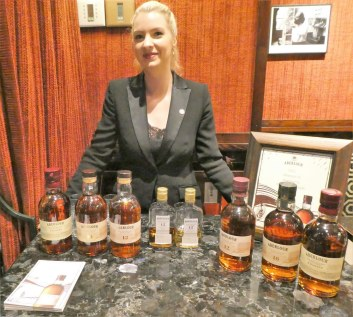 Gemma Cole of Pernod Ricard, presiding over the delicious Aberlour pouring and a special Village Trip cocktail - Diamonds & Rust