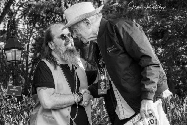 Old friends - Steve Earle and David Amram (Jamie Kalikow)