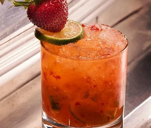 Strawberry Caiprinha