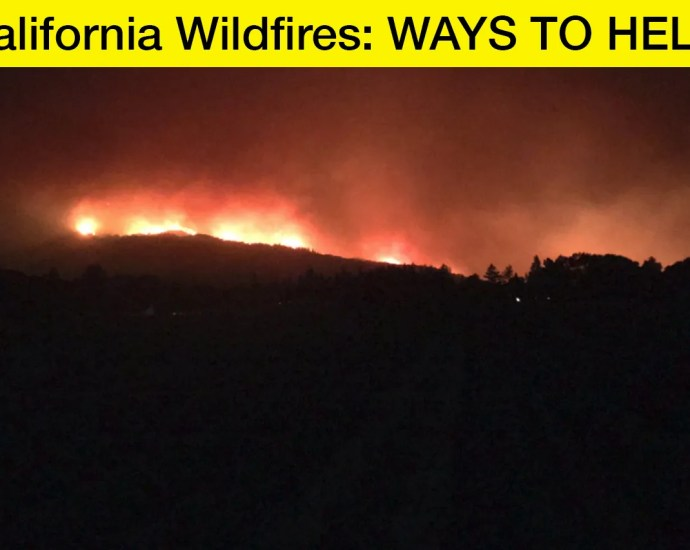California Wildfires Ways to Help