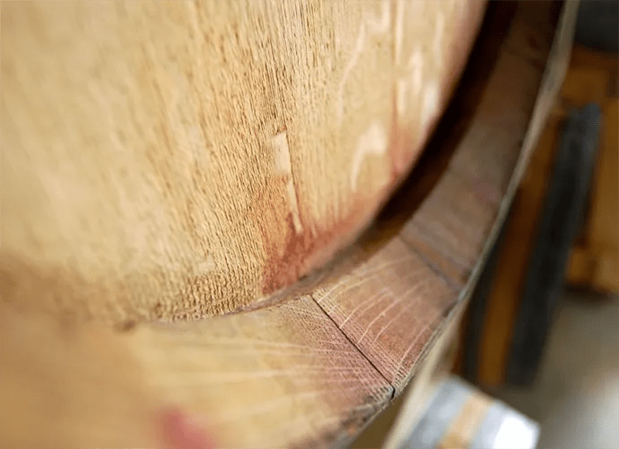 Wine Barrel Closeup