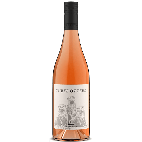 Three Otters Rose Bottle