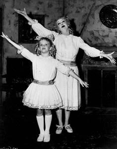 Davis with XX, who played Baby Jane