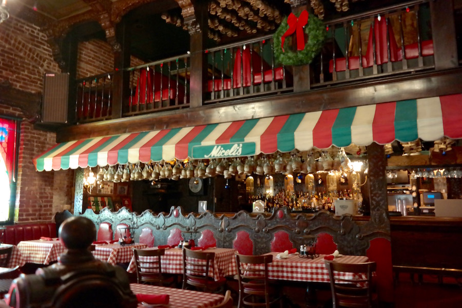 Classic decor inside Miceli's
