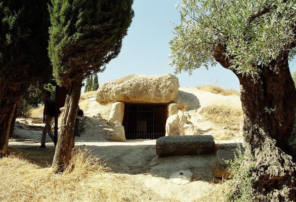 The Dolmen of Menga, Antequera, Málaga, Spain. source