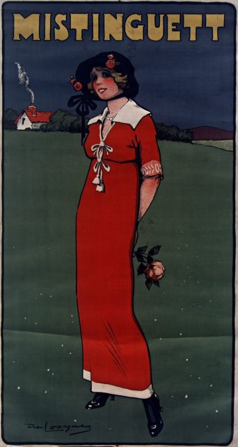 Mistinguett poster, 1911 Source