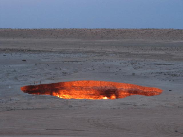 Derwezeh gas crater, Turkmenistan Source