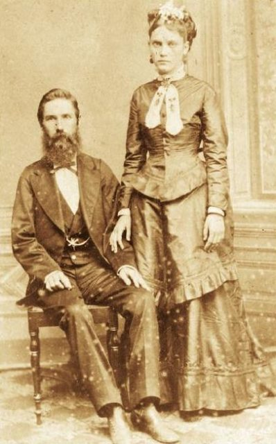 Confederate immigrants Joseph Whitaker and Isabel Norris. Source