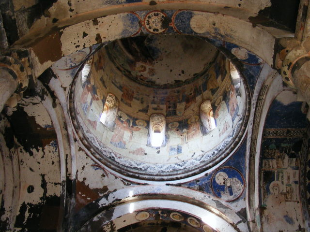 Damaged frescoes of the church of St Gregory of Tigran Honents. Source