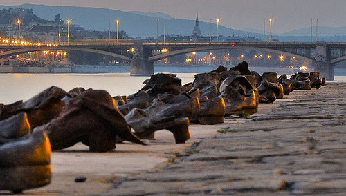 Shoes on the Danube Bank memorial.