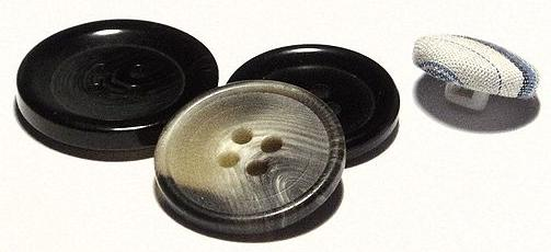 plastic buttons Source:By Richard Wheeler (Zephyris) 2007. ==Licensing== - File:Buttons 2.jpg, CC BY-SA 3.0,