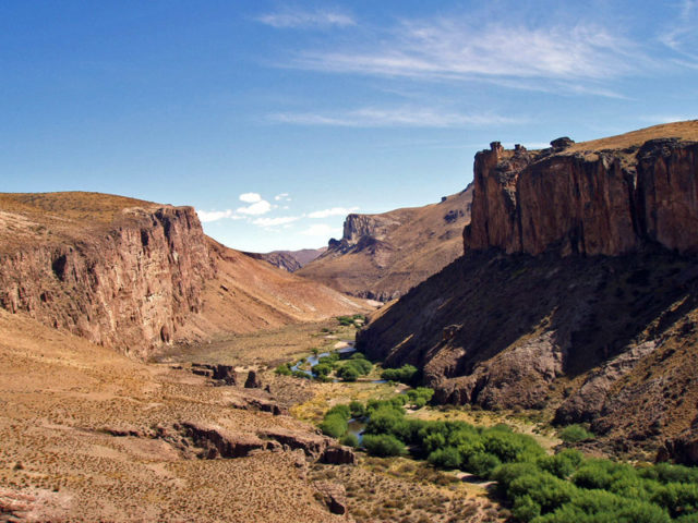 Canyon at the Pinturas River, view from the caves. Photo Credit