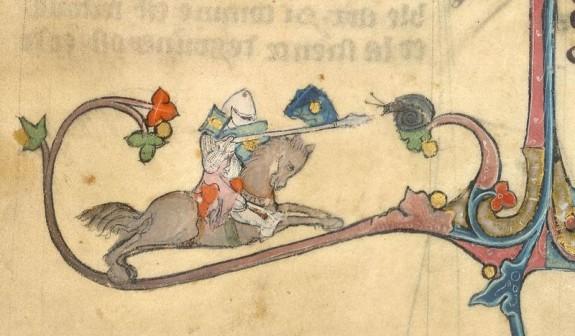 Horseback Knight Dueling Snail