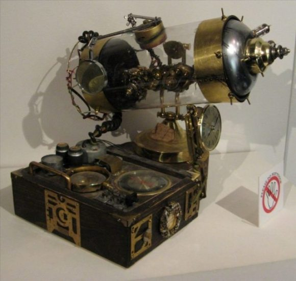 Steampunk-style composite apparatus. Photo by Mark Harding CC BY 3.0