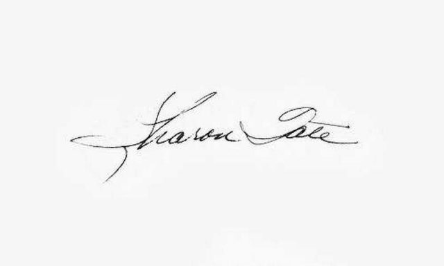Sharon Tate signature