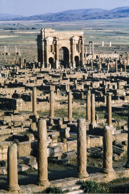 Timgad Roman Ghost City photographed by Brian Brake for LIFE magazine, 1965