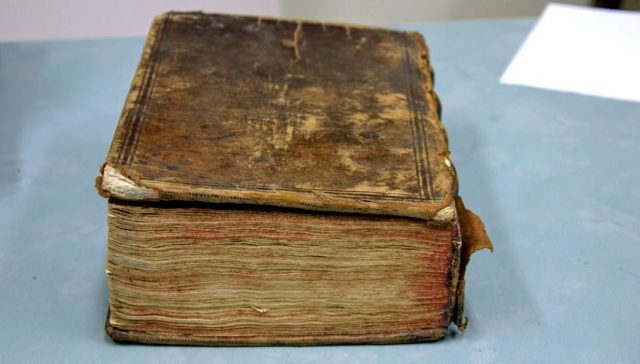 The volume contained 11 English works, including Shakespeare's The Two Noble Kinsmen. Credit: John Stone