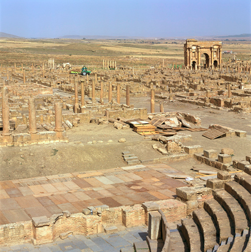 Roman Ghost City. Timgad over view