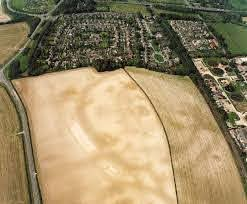 Mount Pleasant Henge crop marks. Credit English Heritage