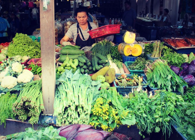 Food markets in Chiang Mai, Thailand