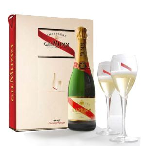 Mumm Champagne and Glasses Gift