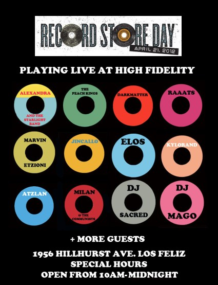 Record Store Day Flyer at High Fidelity
