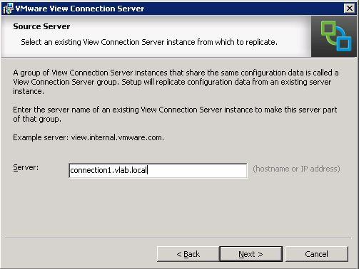 VMware Horizon View - Type Standart Connection Server info