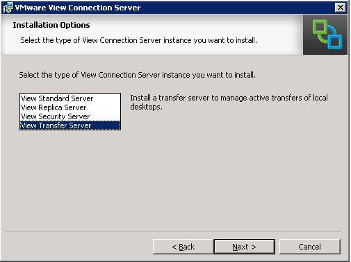 Transfer Server selection