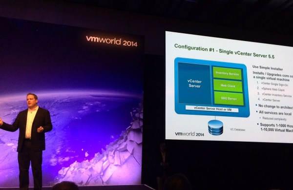 Fig. 1 Justin King at VMworld 2014 in Barcelona