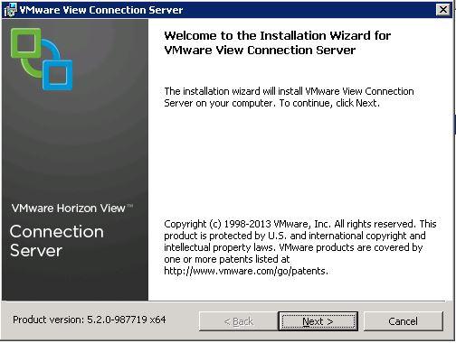 VMware Horizon View - Welcome Wizard