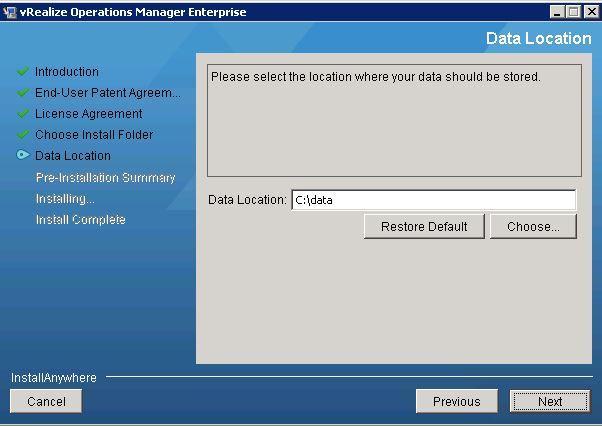 vRO data folder