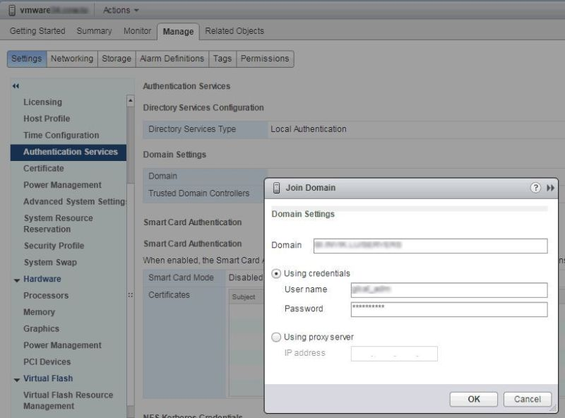 Yet another article about joining your ESXi host to Windows Domain