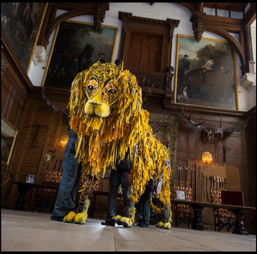 Lion puppet in the Great Hall at Longleat PIC BNPS (1800x1773)
