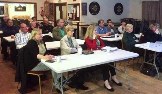 Attendees at the Club Matters workshop event in Chard.