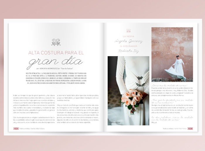 Diseño Editorial por The Visual Corner para Tendencias de Bodas