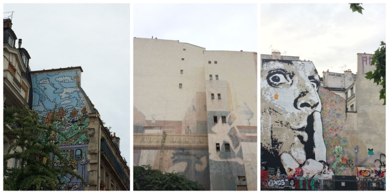 Graffitis en Paris