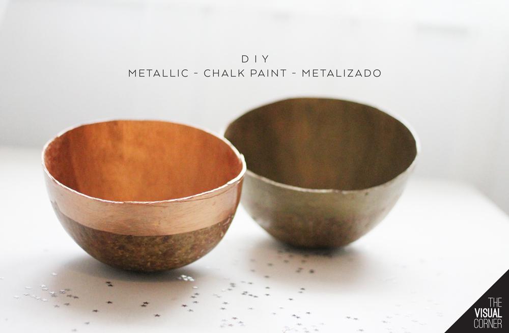 Manualidades navideñas: Chalk paint metalizado