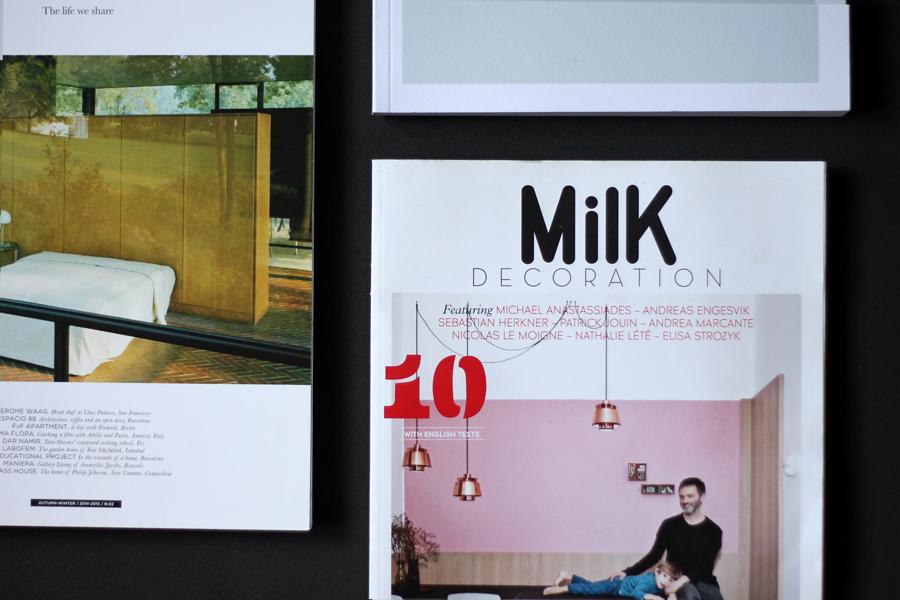 Milk decoration magazine design