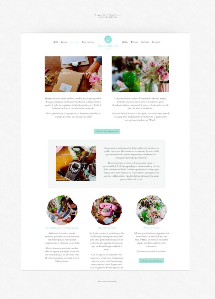 Diseño web por The Visual Corner barcelona