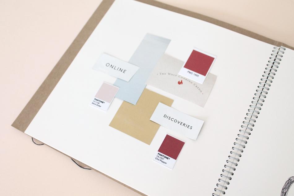 Trabaja el color de tu marca con The Visual Corner: moodborad de invierno.