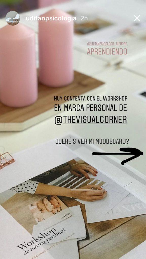 Testimonios taller de marca personal The Visual Corner