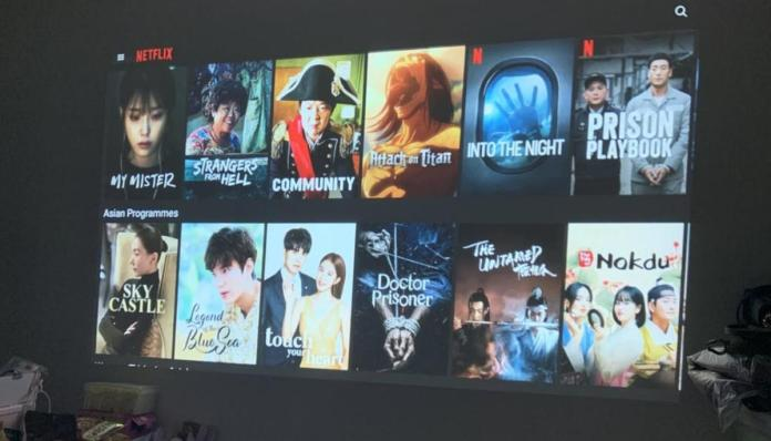 2. Big Screen with Netflix