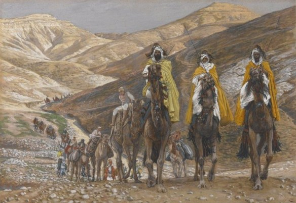 The Magi Journeying - Les rois mages en voyage - James Tissot - Three Kings painting camels