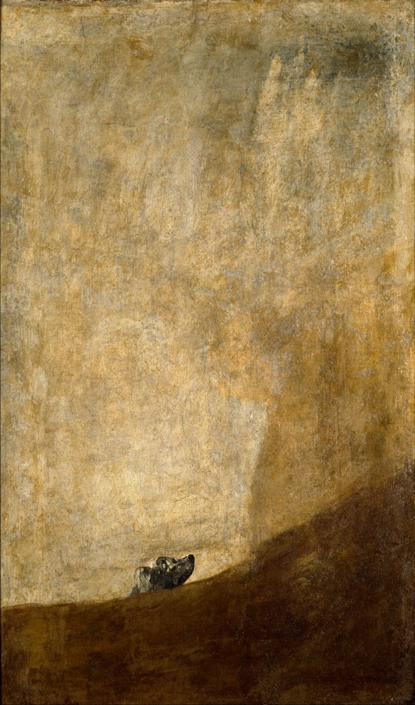 Francisco Goya El perro The dog Perro semihundido Black Paintings 1819-1823
