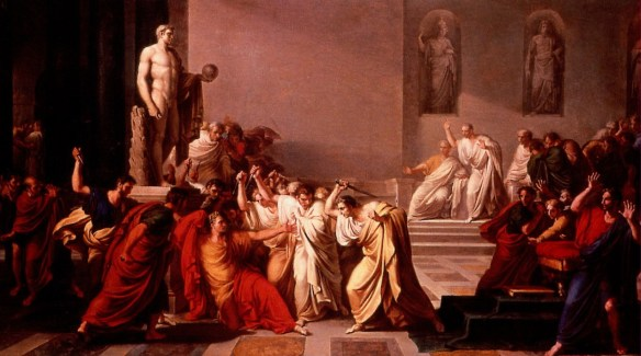 La morte di Cesare The Death of Julius Caesar by Vincenzo Camuccini 1805 oil on canvas painting assassination art